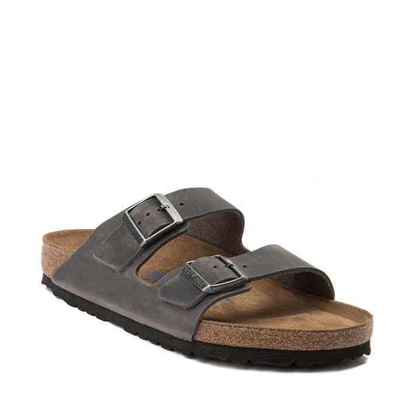 alternate view Mens Birkenstock Arizona Soft Footbed Sandal - IronALT5