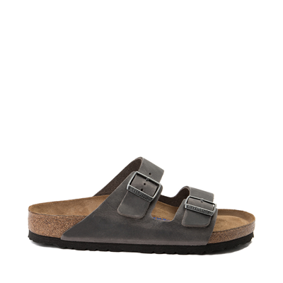 Main view of Mens Birkenstock Arizona Soft Footbed Sandal - Iron