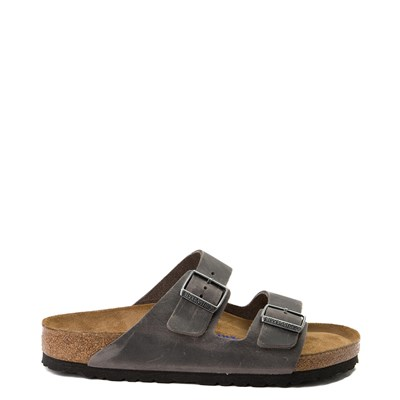 Main view of Mens Birkenstock Arizona Soft Footbed Sandal - Iron