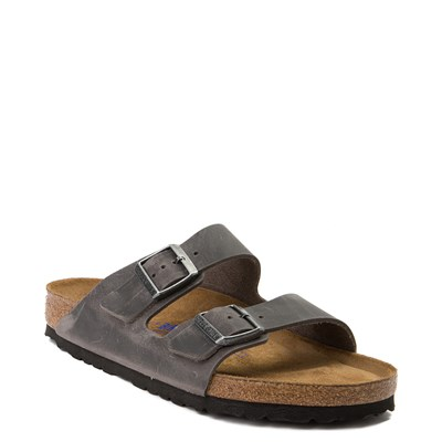 Alternate view of Mens Birkenstock Arizona Soft Footbed Sandal - Iron