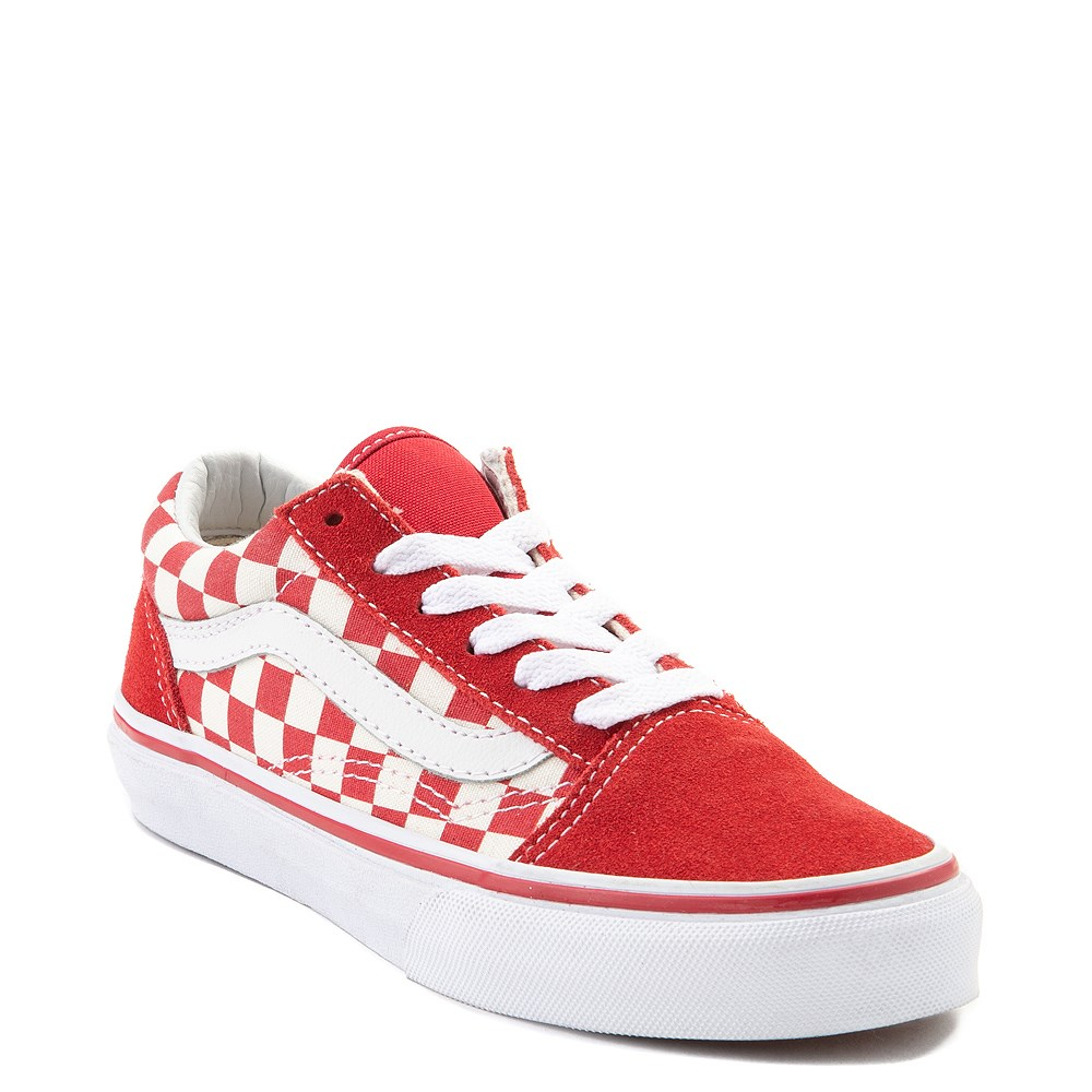 Vans Old Skool Red and White Chex Skate Shoe - Little Kid. Previous.  alternate image ALT5. alternate image default view. alternate image ALT1 ecd2dc0b7
