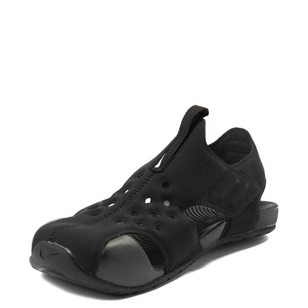 alternate view Nike Sunray Protect Sandal - Little Kid - Black / WhiteALT3