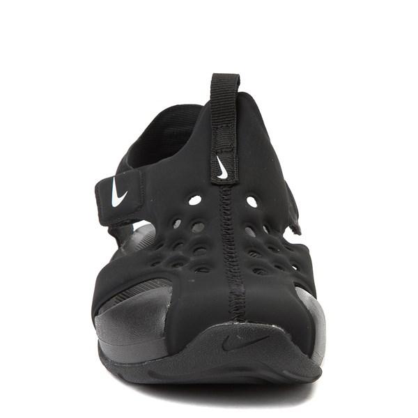 alternate view Nike Sunray Protect Sandal - Little Kid - Black / WhiteALT4