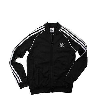 Main view of adidas Superstar Track Jacket - Little Kid / Big Kid - Black