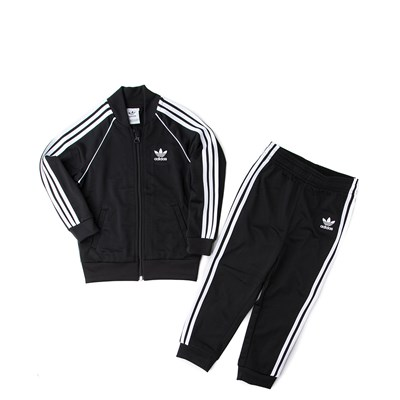 Main view of adidas Superstar Track Suit - Toddler - Black