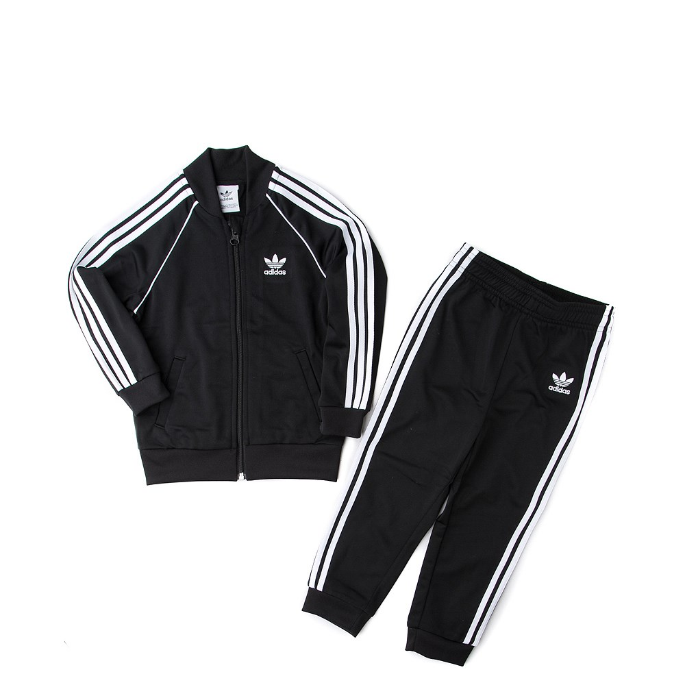 adidas Superstar Track Suit - Toddler - Black