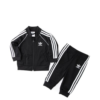 Main view of adidas Superstar Track Suit - Baby - Black