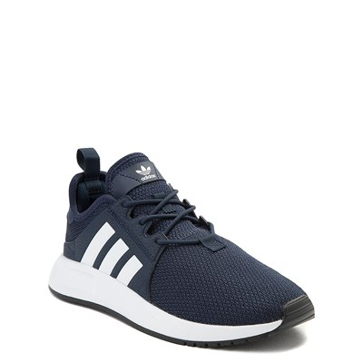 Alternate view of adidas X_PLR Athletic Shoe - Big Kid - Navy / White