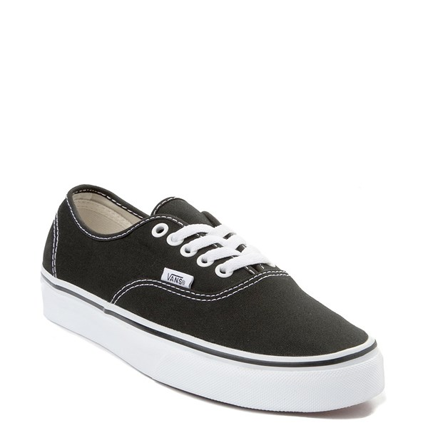alternate view Vans Authentic Skate Shoe - Black / WhiteALT1