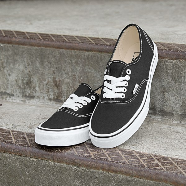alternate view Vans Authentic Skate Shoe - Black / WhiteALT8