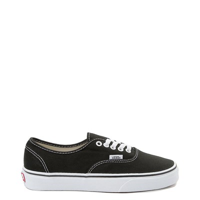 Main view of Black Vans Authentic Skate Shoe
