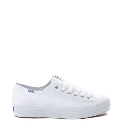Main view of Womens Keds Triple Kick Casual Platform Shoe - White