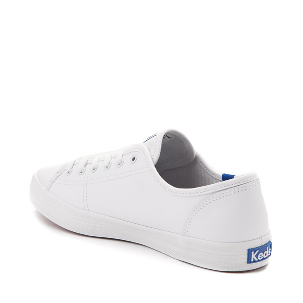 alternate view Womens Keds Kickstart Leather Casual Shoe - White / BlueALT1
