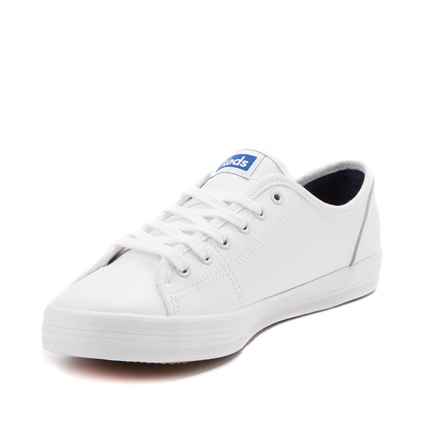 alternate view Womens Keds Kickstart Leather Casual Shoe - White / BlueALT2