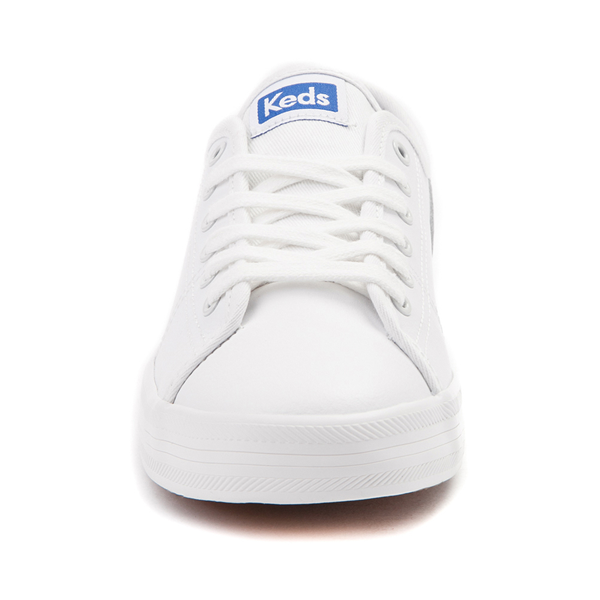 alternate view Womens Keds Kickstart Leather Casual Shoe - White / BlueALT4