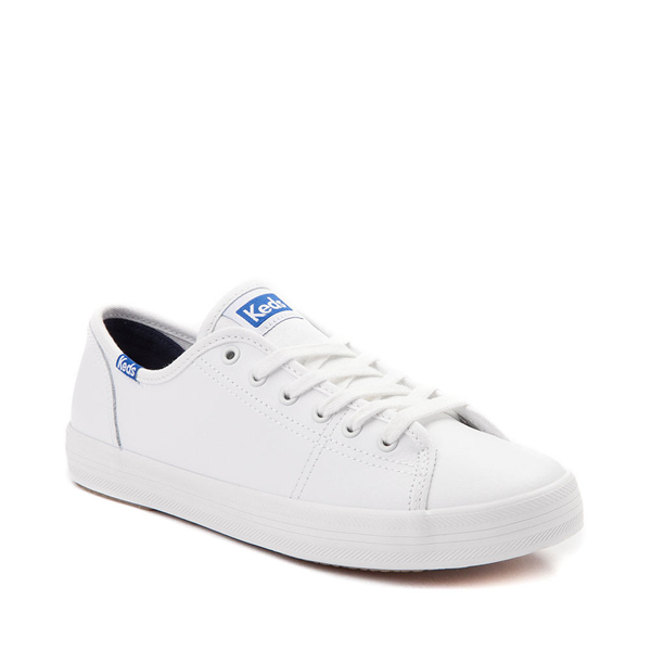 alternate view Womens Keds Kickstart Leather Casual Shoe - White / BlueALT5