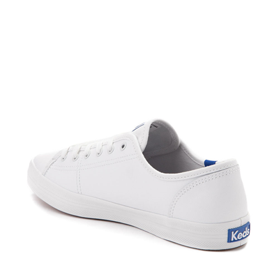 Alternate view of Womens Keds Kickstart Leather Casual Shoe - White / Blue