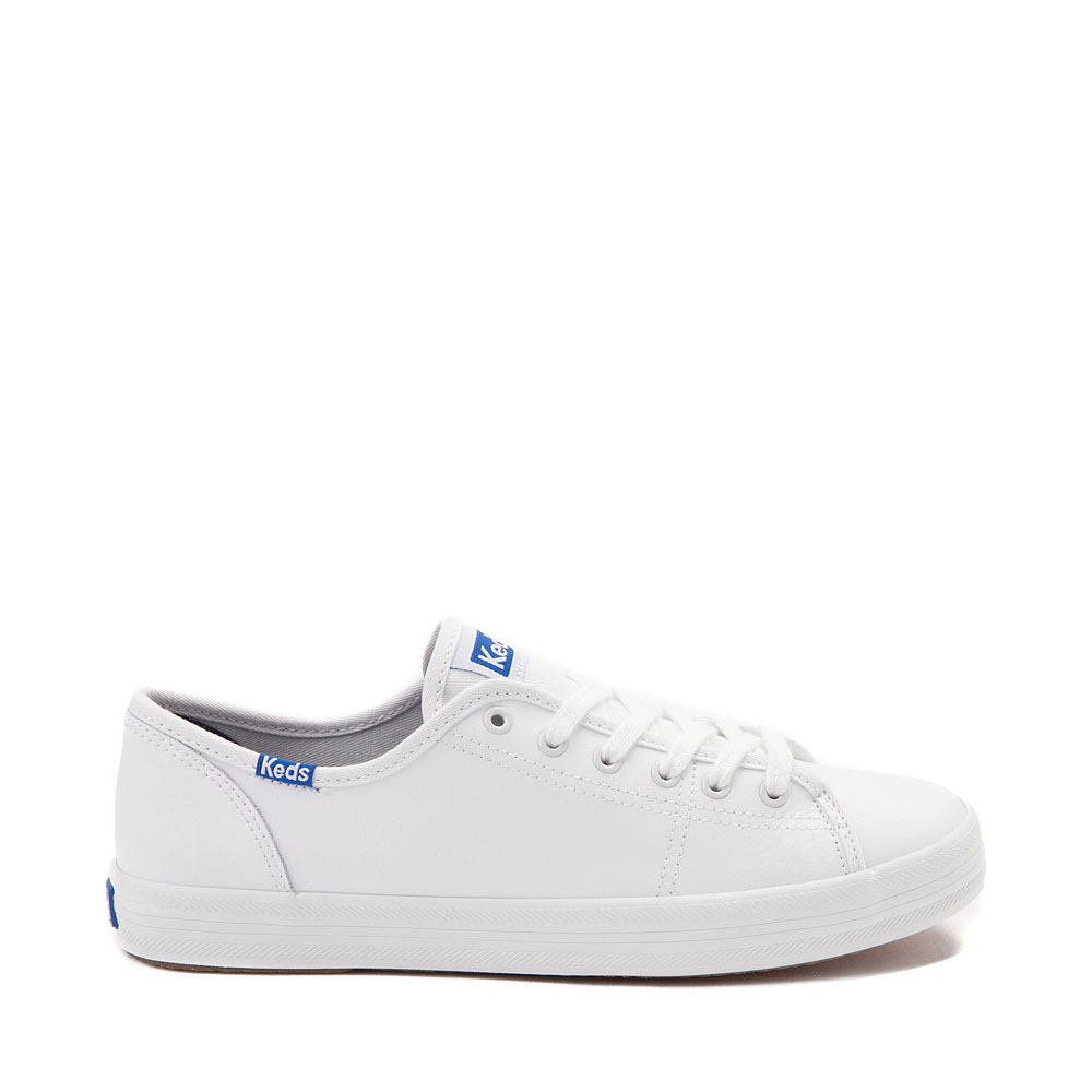 Womens Keds Kickstart Leather Casual Shoe - White / Blue