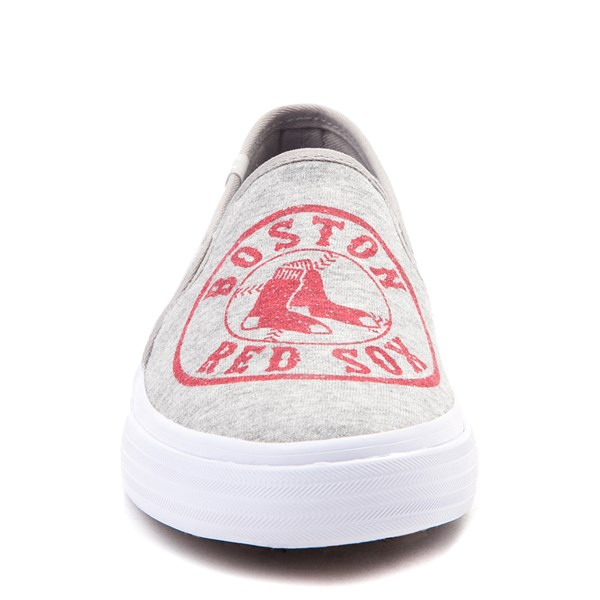 alternate view Womens Keds Double Decker MLB Red Sox™ Casual Shoe - GrayALT1