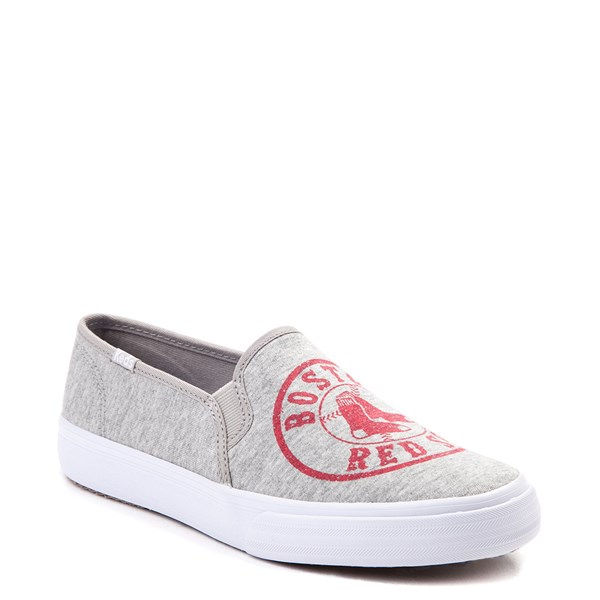 alternate view Womens Keds Double Decker MLB Red Sox™ Casual Shoe - GrayALT1B