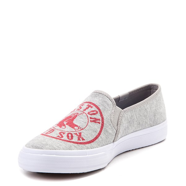 alternate view Womens Keds Double Decker MLB Red Sox™ Casual Shoe - GrayALT3