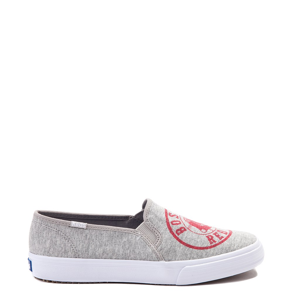Womens Keds Double Decker MLB Red Sox™ Casual Shoe - Gray