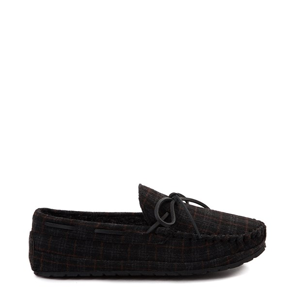 Mens Minnetonka Casey Plaid Slipper - Charcoal / Plaid