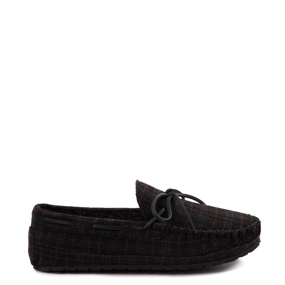 Mens Minnetonka Casey Plaid Slipper