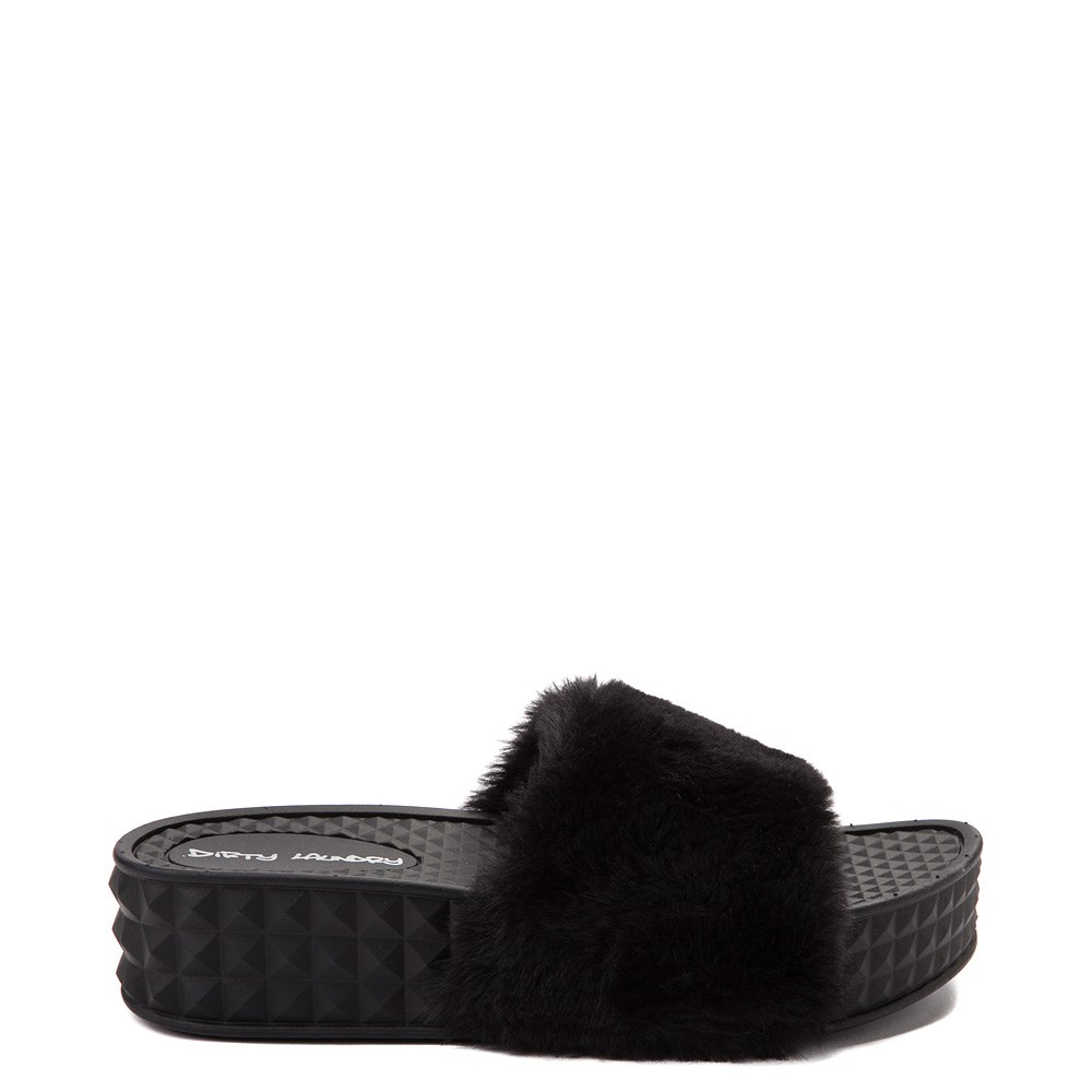 Womens Dirty Laundry Sonny Fur Slide