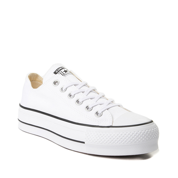 alternate view Womens Converse Chuck Taylor All Star Lo Platform Sneaker - WhiteALT5
