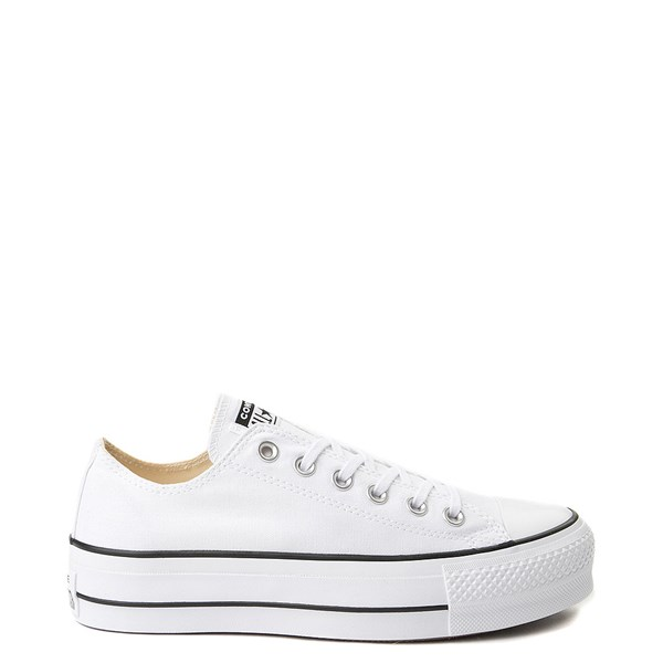 Main view of Womens Converse Chuck Taylor All Star Lo Platform Sneaker - White