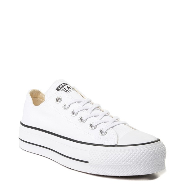 Alternate view of Womens Converse Chuck Taylor All Star Lo Platform Sneaker - White