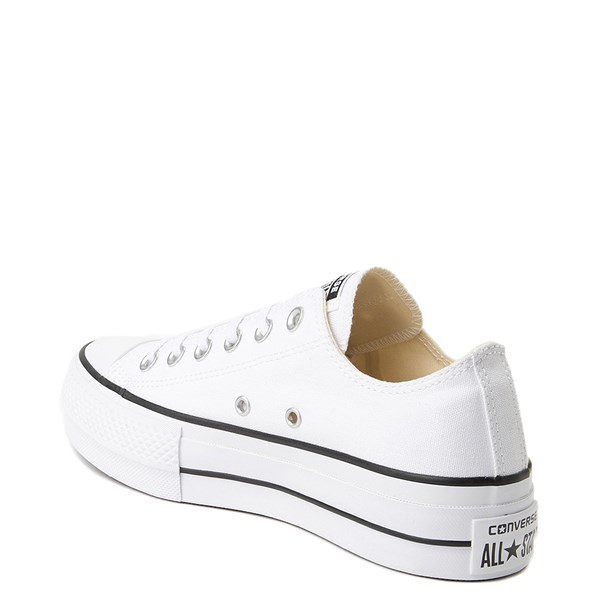 alternate view Womens Converse Chuck Taylor All Star Lo Platform Sneaker - WhiteALT2