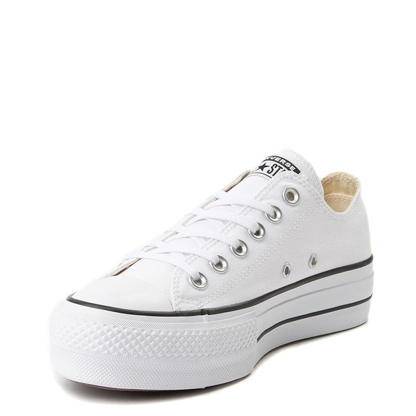 alternate view Womens Converse Chuck Taylor All Star Lo Platform Sneaker - WhiteALT3