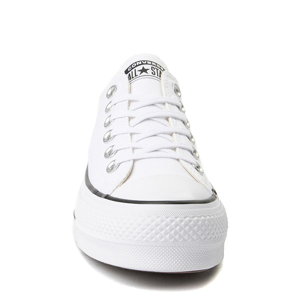 alternate view Womens Converse Chuck Taylor All Star Lo Platform Sneaker - WhiteALT4