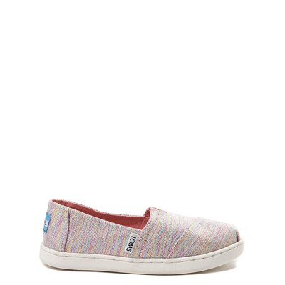 Main view of Youth/Tween TOMS Classic Glimmer Slip On Casual Shoe