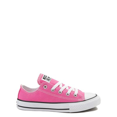 Main view of Youth Hot Pink Converse Chuck Taylor All Star Lo Sneaker