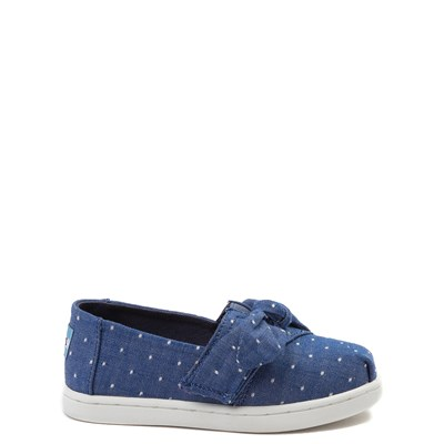 Toddler TOMS Classic Bow Slip On Casual Shoe