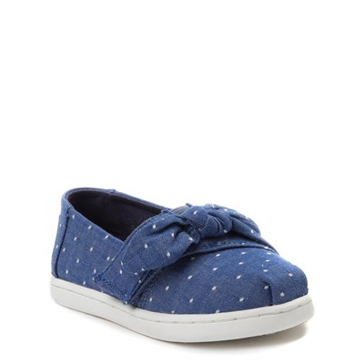 Alternate view of Toddler TOMS Classic Bow Slip On Casual Shoe