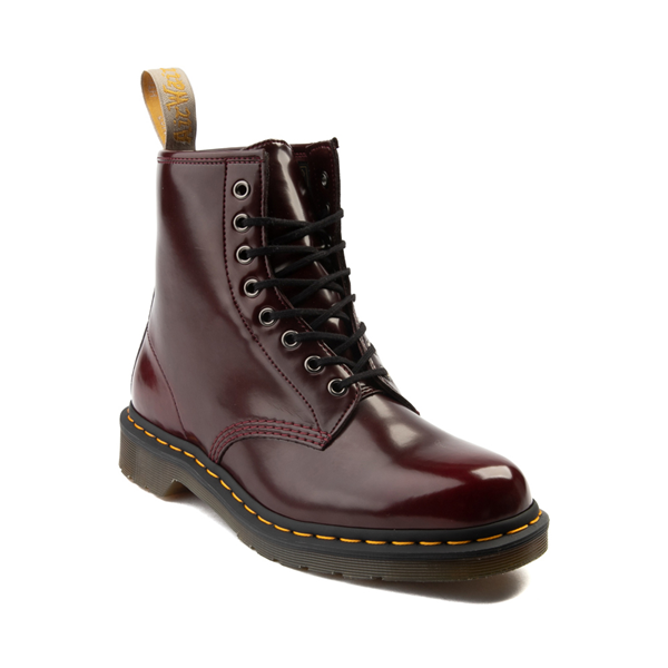 alternate view Dr. Martens 1460 8-Eye Vegan Boot - BurgundyALT5