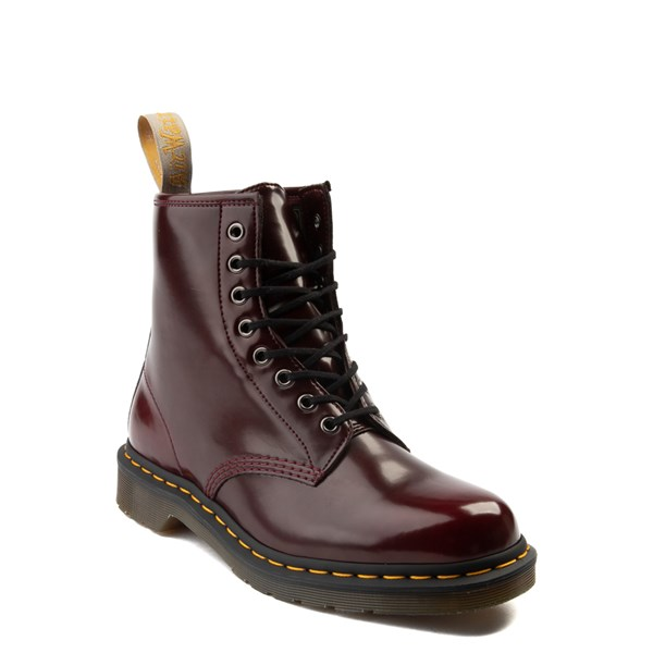 alternate view Dr. Martens 1460 8-Eye Vegan Boot - BurgundyALT1