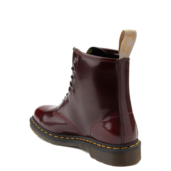 alternate view Dr. Martens 1460 8-Eye Vegan Boot - BurgundyALT2