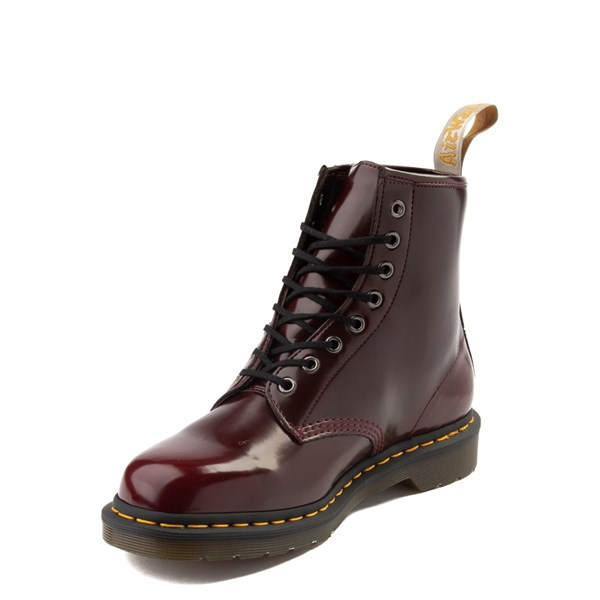 alternate view Dr. Martens 1460 8-Eye Vegan Boot - BurgundyALT3