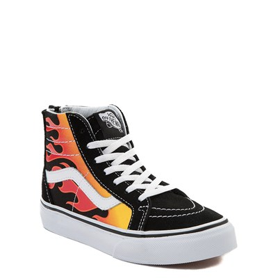 Alternate view of Youth Vans Sk8 Hi Flames Skate Shoe