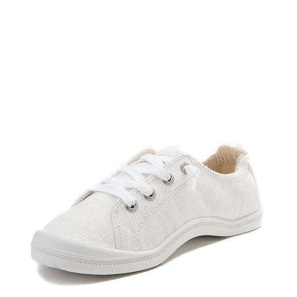 alternate view Womens Roxy Bayshore Casual Shoe - WhiteALT3