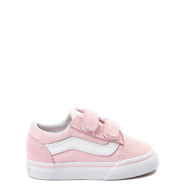 Default view of Vans Old Skool V Skate Shoe - Baby / Toddler - Light Pink