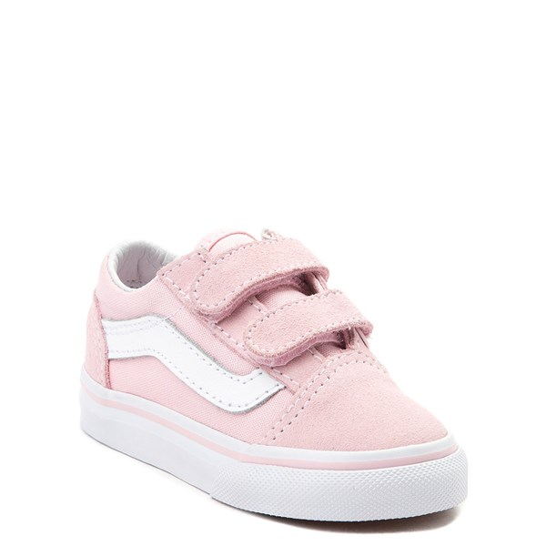 alternate view Vans Old Skool V Skate Shoe - Baby / Toddler - Light PinkALT1