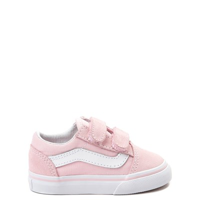 Main view of Vans Old Skool V Skate Shoe - Baby / Toddler - Light Pink