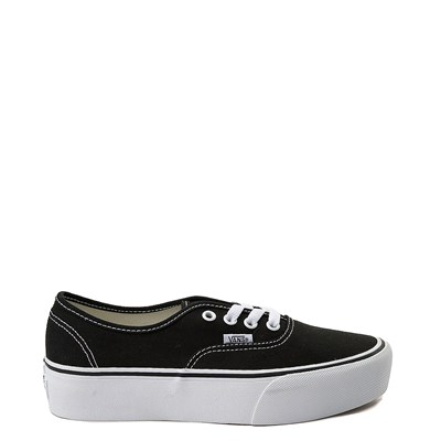 Main view of Vans Black  Authentic Platform Skate Shoe