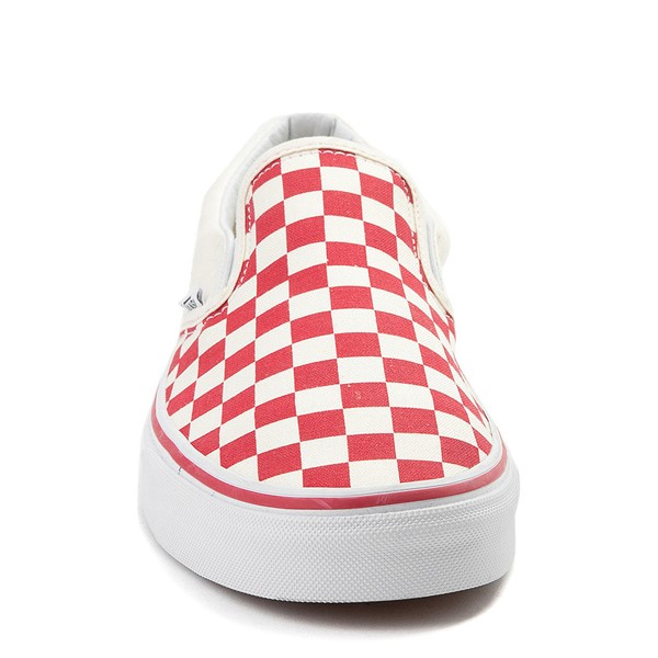 alternate view Vans Slip On Checkerboard Skate Shoe - Red / WhiteALT4